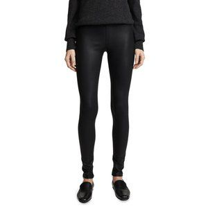 ANTHRO WILLOW & CLAY USA Coated Black Leggings